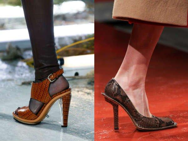 Модные хищные туфли осень-зима 2015-2016