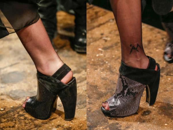 Модные туфли осень-зима 2015-2016 Массивные платформа и каблук